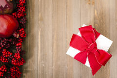Christmas Gift background. With Copy Space Stock Photos