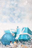 Christmas Gift background. With Copy Space Stock Images