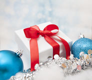 Christmas Gift background. With Copy Space Stock Image