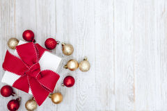Christmas Gift  background. Christmas Gift Background with Copy Space Royalty Free Stock Image