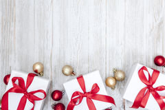 Christmas Gift background. With Copy Space Royalty Free Stock Photos