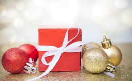 Christmas Gift  background. Christmas Gift Background with Copy Space Stock Images