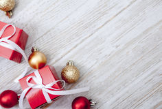 Christmas Gift background. With Copy Space Royalty Free Stock Photo