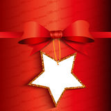 Christmas gift background with glittery label Royalty Free Stock Photo