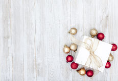Christmas Gift background. Christmas Holiday Background with Copy Space Royalty Free Stock Photography
