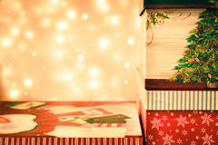 Christmas gift background Stock Photography