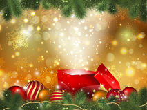 Christmas gift background Stock Photo