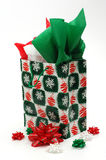 Christmas Gift Bag. Isolated on a white background Stock Image