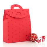 Christmas Gift Bag Royalty Free Stock Images