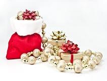 Christmas gift bag. Stock Photos