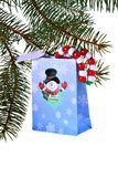 Christmas Gift bag Stock Images