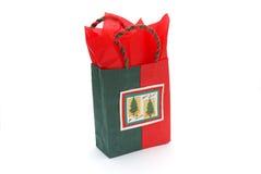 Christmas gift bag Royalty Free Stock Photography
