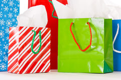 Christmas gift bags Royalty Free Stock Photo