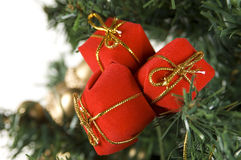 Christmas Gift Bags on Tree Stock Images