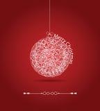 Christmas gift ball, applique background Stock Photos