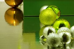 Christmas gift balls from ate Stock Photography
