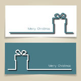 Christmas gift banners Stock Photos