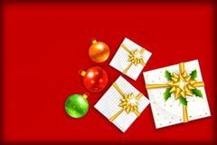 Christmas Gift with Bauble Royalty Free Stock Image