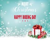 Christmas Gift Baubles  Snow Bokeh Stars Boxing Day Stock Photography