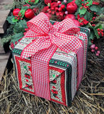 Christmas Gift. A beautifully wrapped Christmas Gift for someone special royalty free stock images