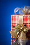 Christmas gift and bells Stock Photo