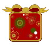Christmas Gift with Big Bow Royalty Free Stock Photos