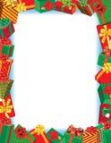 Christmas Gift Border Stock Image