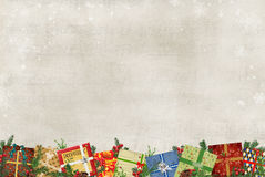 Christmas Gift Border Stock Photography