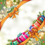 Christmas gift with bow Royalty Free Stock Image