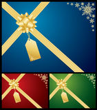 Christmas gift bow Stock Image