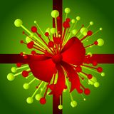 Christmas Gift With Bow Background Royalty Free Stock Image