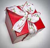 Christmas Gift Bow with bow Stock Photo