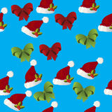Christmas gift bow pattern Stock Photo