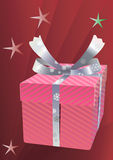 Christmas  gift  box. Royalty Free Stock Photo