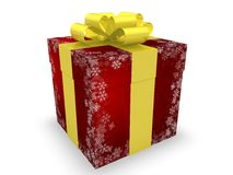 Christmas Gift Box. In 3D Royalty Free Stock Photography