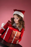 Christmas gift-box Stock Image