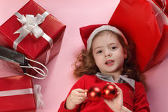 Christmas gift-box Stock Photography