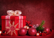 Christmas gift box royalty free stock image