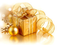 Christmas Gift Box Stock Images