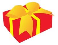 Christmas gift box Stock Images