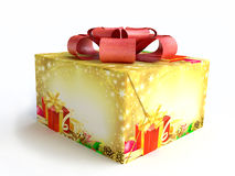 Christmas Gift Box in 3D Stock Image