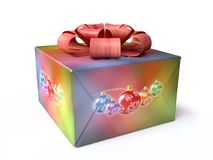 Christmas Gift Box in 3D Stock Photos