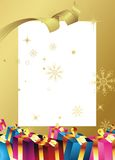 Christmas gift box Stock Photography