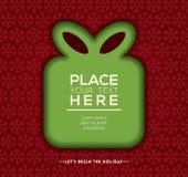 Christmas gift box Background design Stock Photos