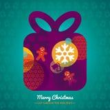 Christmas Gift Box background illustration Royalty Free Stock Photography