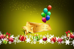 Christmas gift box with balloons Royalty Free Stock Photography