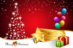Christmas  gift box with balloons Stock Images