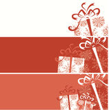 Christmas gift box banners for your design Royalty Free Stock Photo