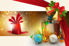 Christmas  gift box with bubbles Royalty Free Stock Photos