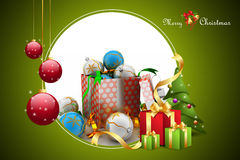 Christmas  gift box with bubbles Stock Images
